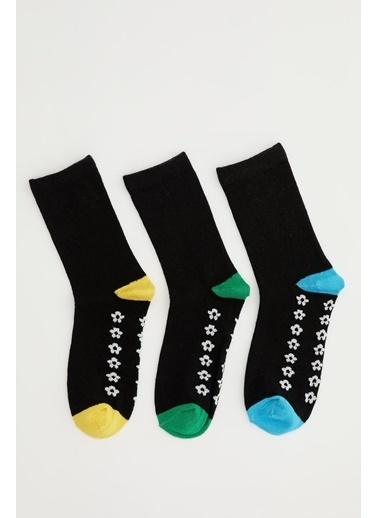 DeFacto Erkek Çocuk Desenli 5'li Soket Çorap Siyah